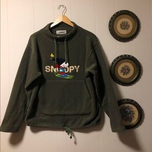 vintage snoopy fleece sweatshirt 💚